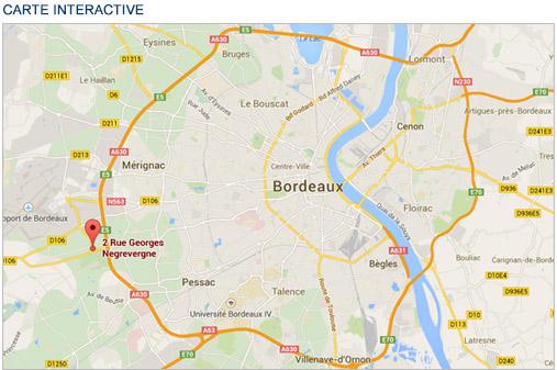 Carte Rocade Bordeaux.Plan Du Centre De La Clinique Du Sport Bordeaux Merignac